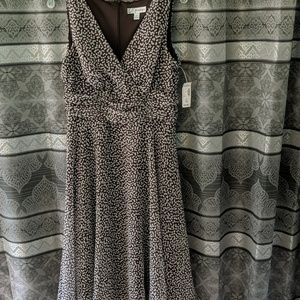 Brown and white spotted dress